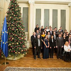 20151208: SLO, Sportnik leta 2015 - Reception at Borut Pahor, president of Slovenia