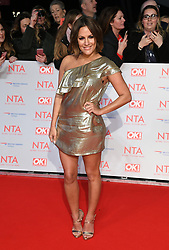 Caroline Flack attending the National Television Awards 2018 held at the O2, London. Photo credit should read: Doug Peters/EMPICS Entertainment