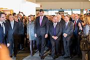 Princes of Asturies entering Arco Art Fair in Madrid