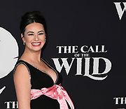 """13 February 2020 - Hollywood, California - Cara Gee at the World Premiere of twentieth Century Studios """"The Call of the Wild"""" Red Carpet Arrivals at the El Capitan Theater."""