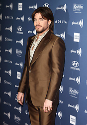 The 30th Annual GLAAD Media Awards held at The Beverly Hilton in Beverly Hills, California on 3/28/19. 28 Mar 2019 Pictured: Adam Lambert. Photo credit: River / MEGA TheMegaAgency.com +1 888 505 6342