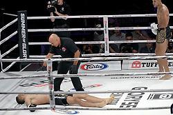July 20, 2018 - New York, New York, U.S. - Tunisian middleweight Yousri Belgaroui was knocked out by Brazilian Alex Pereira at Madison Square Garden Theatre. (Credit Image: © John Marshall Mantel via ZUMA Wire)