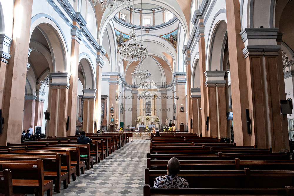 Interior view of the Veracruz Cathedral, dedicated to Our Lady of the Assumption, in the historic center of the city of Veracruz, Mexico.