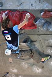 Climber Anze Stremfelj (SLO) at World cup competition in Zlato polje, Kranj, Slovenia, on November 15, 2008.  (Photo by Vid Ponikvar / Sportida)