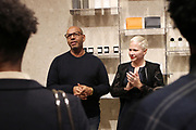 New York, NY-November 3: (L-R) Emil Welbekin, Founder, Native Son and Carissa Barrett, Director of Retail & Wholesale Leather goods, Byredo attend the Native Son Community Give Back Reception benefiting the Stonewall Community Foundation and other LGBTQ organizations hosted by Emil Welbekin held at Byredo on November 3, 2017 in New York City.  (Photo by Terrence Jennings/terrencejennings.com)
