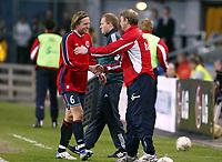 Fotball, 28. april 2004, Privatlandskamp, Norge-Russland 3-2, Thorstein Helstad, Norge, og Åge Hareide, Norge