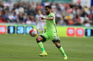 Gael Clichy of Manchester city in action. Barclays Premier league match, Swansea city v Manchester city at the Liberty Stadium in Swansea, South Wales on Sunday 15th May 2016.<br /> pic by Andrew Orchard, Andrew Orchard sports photography.