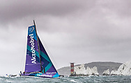 """The Seven Star Triple Crown as part of Lendy Cowes week 2017. The Volvo Ocean Race Team """"Akzo Nobel"""" shown here rounding the Needles. Skippered by Simeon Tienpont (NED)<br /> Credit Lloyd Images"""