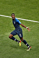 France midfielder Paul Pogba (C) celebrating the goal scored during the 2018 FIFA World Cup Russia, final football match between France and Croatia on July 15, 2018 at Luzhniki Stadium in Moscow, Russia - Photo Stanley Gontha / Proshots / ProSportsImages / DPPI