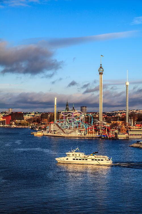 Tivoli Gröna Lund is an amusement park in Stockholm, Sweden. Gröna Lund is a favorite locale for concerts during the summer.