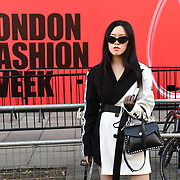 Fashionist attend LFW AW19 Day 1 at The Strand, London, UK