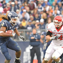 Oct 31, 2009; East Hartford, CT, USA; Rutgers linebacker Ryan D'Imperio (44) chases after Connecticut running back Andre Dixon (2) during second half Big East NCAA football action in Rutgers' 28-24 victory over Connecticut at Rentschler Field.
