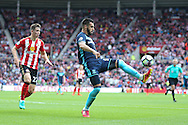 Middlesbrough forward, on loan from Valencia, Alvaro Negredo (10)  controls the ball during the Premier League match between Sunderland and Middlesbrough at the Stadium Of Light, Sunderland, England on 21 August 2016. Photo by Simon Davies.