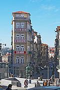 a narrow building praca almeida garrett porto portugal