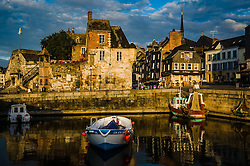 The harbour in Honfleur, Normandy, France at dawn
