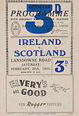 Rugby 1950-25/02 Five Nations Ireland Vs Scotland
