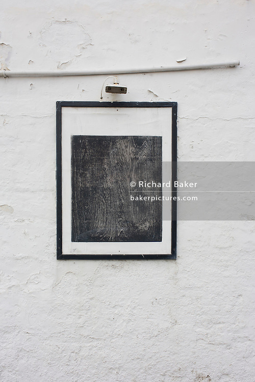 A blank board outside a pub in Leigh-on-sea, Essex.