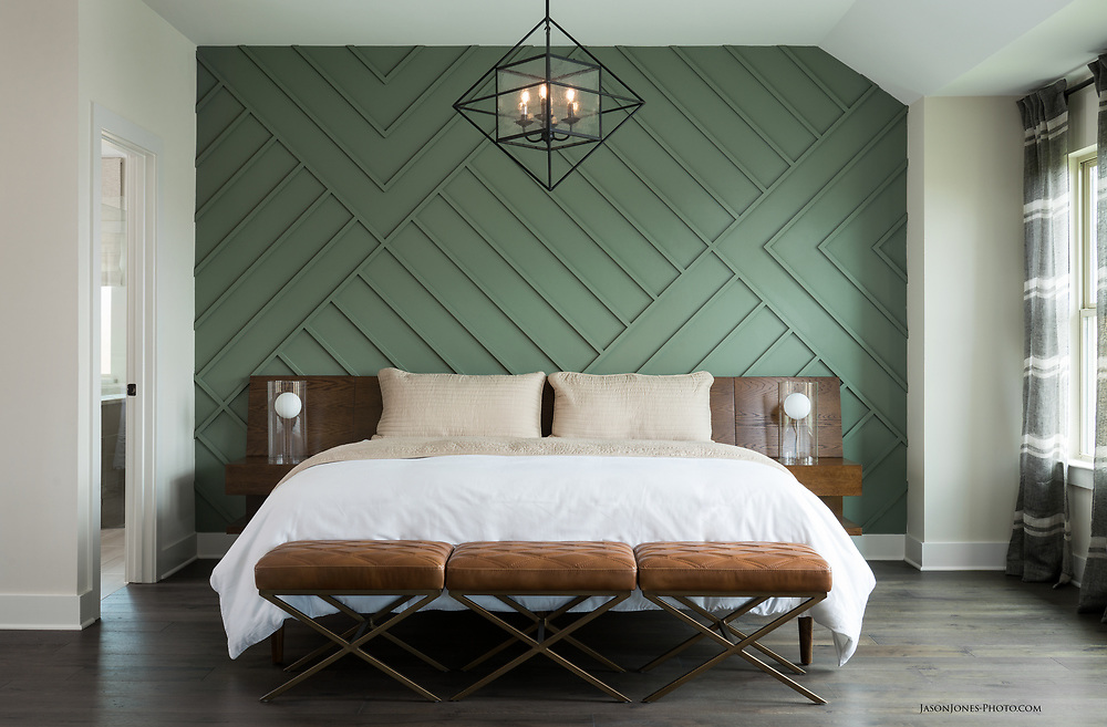 Modern styling for a Master Bedroom design photography session