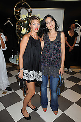 Left to right, ASSIA WEBSTER and YASMIN MILLS at the PPQ of Mayfair Summer Party at 47 Conduit Street, London on 30th July 2008.<br /> <br /> NON EXCLUSIVE - WORLD RIGHTS
