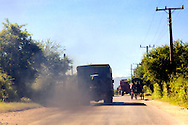 Traffic in Bayamo, Granma, Cuba.