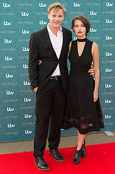 © Licensed to London News Pictures. 11/08/2016. AGGY K. ADAMS and guest attend the VIP press screening of Victoria. The ITV series traces the early life of Queen Victoria, from her accession to the throne at the tender age of 18 through to her courtship and marriage to Prince Albert.  London, UK. Photo credit: Ray Tang/LNP