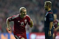 Fotball<br /> 07.09.2014<br /> EM-kvalifisering<br /> Danmark v Armenia<br /> Foto: imago/Digitalsport<br /> NORWAY ONLY<br /> <br /> Thomas Kahlenberg, Danmark har scoret til 2-1