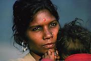 Young mother, Delhi, India.