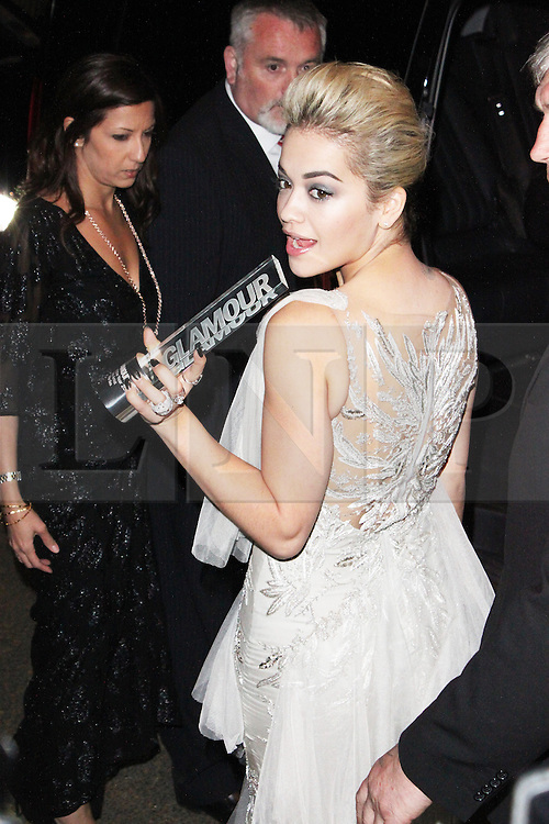 LONDON - June 04: Rita Ora leaving the Glamour Awards 2013 (Photo by Brett D. Cove) /LNP © Licensed to London News Pictures.