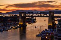 Burrard Bridge & Fishermen's Wharf @ Sunset