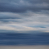 """""""The Essence""""<br /> <br /> Ahh, The Essence!! Tones of blue and gray. Motion, layers, storm on the horizon. <br /> A beautiful abstract with lots of feeling!!<br /> <br /> Nature Abstracts by Rachel Cohen"""