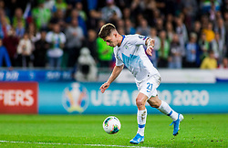 Benjamin Verbic of Slovenia during the 2020 UEFA European Championships group G qualifying match between Slovenia and Israel at SRC Stozice on September 9, 2019 in Ljubljana, Slovenia. Photo by Ziga Zupan / Sportida
