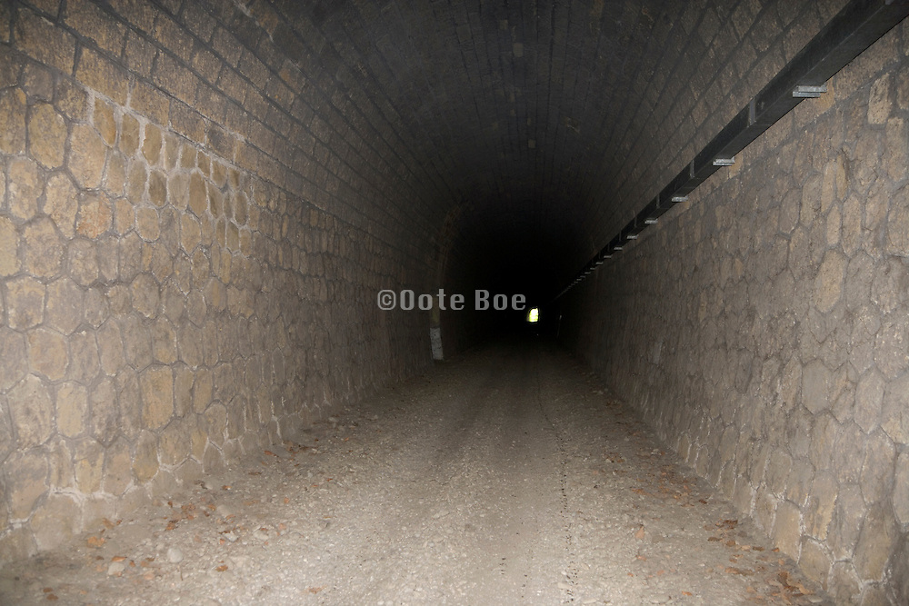 a long old in disuse train tunnel