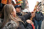 New Year celebration Chinatown New York City shooting confetti
