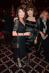 Left to right, STELLA WILSON and JOAN COLLINS at a party to celebrate the publication of 'Passion for Life' by Joan Collins held at No41 The Westbury Hotel, Mayfair, London on21st October 2013.