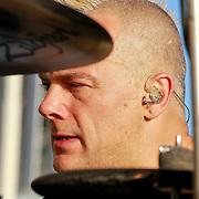 NLD/Amsterdam/20110626 - Ziggodome Under Contruction concert van Skunk Anansie, drummer Mark Richardson
