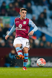 Ashley Westwood of Aston Villa in action - Mandatory byline: Rogan Thomson/JMP - 19/01/2016 - FOOTBALL - Villa Park Stadium - Birmingham, England - Aston Villa v Wycombe Wanderers - FA Cup Third Round Replay.