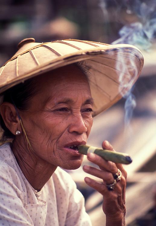 Floating market trader, Inle Lake, Burma, 1988