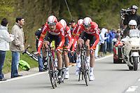 Monfort Maxime - Lotto Soudal - 28.04.2015 - Tour de Romandie - Etape 01 : Vallee de Joux / Juraparc - CLM Par Equipes<br />Photo : Sirotti / Icon Sport  *** Local Caption ***