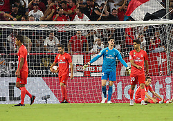 September 26, 2018 - Players of Real Madrid in action during the spanish league, La Liga, football match between Sevilla and Real Madrid on September 26, 2018 at Ramon Sanchez Pizjuan Stadium in Sevilla, Spain. (Credit Image: © AFP7 via ZUMA Wire)