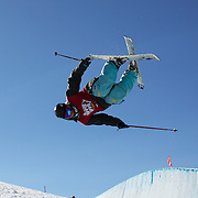 Sean Collin, USA,  in action in the Halfpipe Finals during The North Face Freeski Open at Snow Park, Wanaka, New Zealand, 3rd September 2011. Photo Tim Clayton...