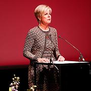BEL/Brussel/20130319- Uitreiking Prinses Margriet Award 2013, toespraak Prinses Laurentien, presidente ECF