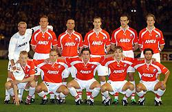 18-10-2001 VOETBAL: UEFA CUP FC UTRECHT - PARMA: UTRECHT<br /> Utrecht verliest met 3-1 van Parma / oa. Harald wapernaar, Stefan Tanghe, Igot Glusevic, Dirk Kuyt, Jean Paul de Jong, Patrick Zwaanswijk, Pascal Bosschaart, Stijn Vreven<br /> ©2001-WWW.FOTOHOOGENDOORN.NL