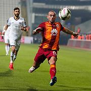 Galatasaray's Wesley Sneijder during their Turkish Superleague soccer match Kasimpasa SK between Galatasaray at the Recep Tayyip Erdogan stadium in Istanbul Turkey on Saturday 21 March 2015. Photo by Aykut AKICI/TURKPIX