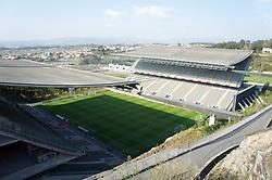 BRAGA, PORTUGAL, Thursday, March 10, 2011: A general view of the Estadio Municipal de Braga as Liverpool take on Sporting Clube de Braga during the UEFA Europa League Round of 16 1st leg match. (Photo by David Rawcliffe/Propaganda)