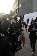 14 June 2010- Harlem, New York- Michael Jackson custom made doll outside at The Apollo Theater's 2010 Spring Benefit and Awards Ceremony hosted by Jamie Foxx inducting Aretha Frankilin and Michael Jackson, and honoring Jennifer Lopez and Marc Anthony co- sponsored by Moet et Chandon which was held at the Apollo Theater on June 14, 2010 in Harlem, NYC. Photo Credit: Terrence Jennngs/Sipa