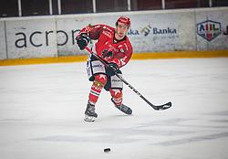 8# Urukalo Ziga of HK SIJ Acroni Jesenice during ice hockey match between HK SIJ Acroni Jesenice and HK SZ Olimpija in Round #12 of Alps Hockey League 2018/19 , on October 27, 2018 in Podmezakla hall , Jesenice, Slovenia. Photo by Urban Meglic / Sportida