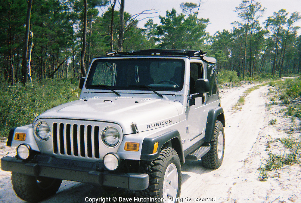 2006 Jeep Wrangler Rubicon on a trail off US 98 in the Florida Panhandle.