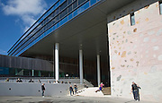 Modern architecture buildings Tremough campus, University College Falmouth, Cornwall, England