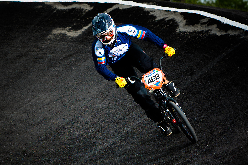 #469 (HERNANDEZ Stefany) VEN at the UCI BMX Supercross World Cup in Papendal, Netherlands.