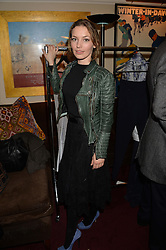 Actress PERDITA WEEKS at a party hosted by Lady Kinvara Balfour, Lavinia Brennan and Lady Natasha Rufus Isaacs to celebrate the Beulah French Sole Collaboration in aid of the UN Blue Heart Campaign, held at George, 87-88 Mount Street, London on 10th December 2013.